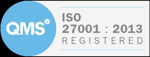 QMS ISO 27001:2013 Registered